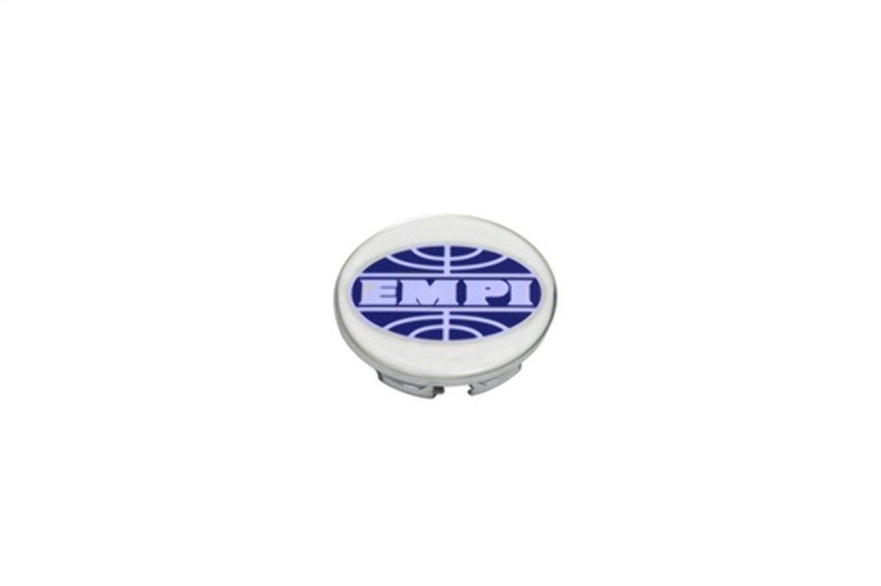 00-9733-0 CHROME PLASTIC CAP FOR BRM, NEW BEETLE ONLY, EMPI LOGO, EA