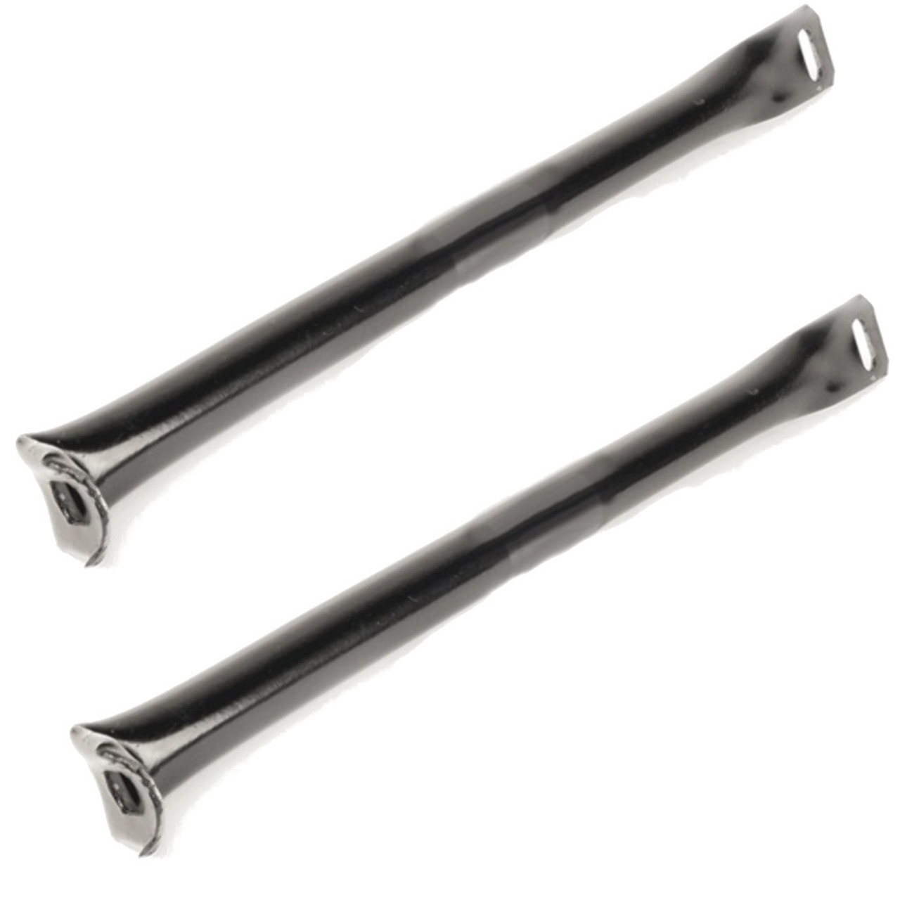 Rear Bumper Support Tube, Over Rider Brackets, Pair, Black, Fits Type 1 Bug 1955-1967