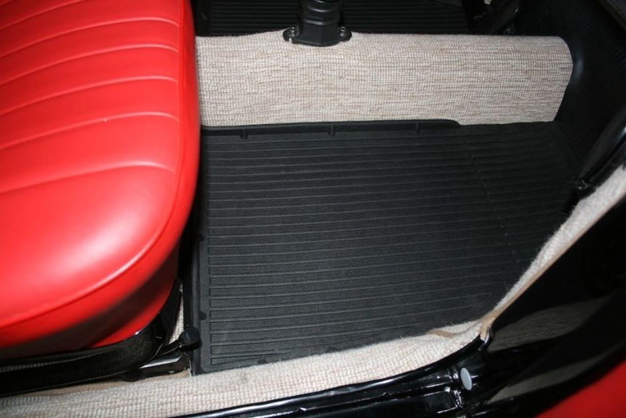 Floor Mats, All Weather Liner, Fits VW All Years,Bug Beetle Baja, 58-72 Front, Pair