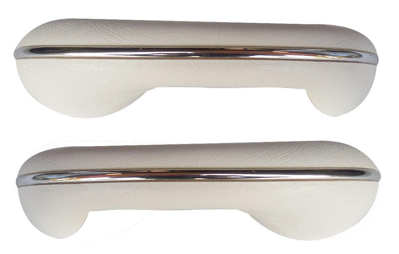TMI VW BUG BEETLE TYPE 1  ARM REST, 58-67, Type 1 , BRIGHT WHITE, PAIR