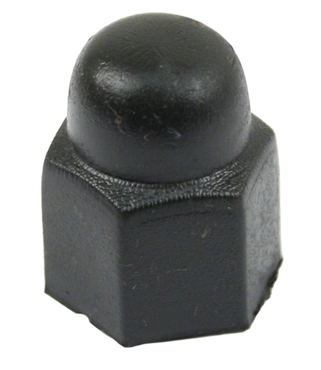 111 601 173 Cap, (Black) Wheel Bolt, VW Type 1 1973-79, Each - EMPI 98-6113-B