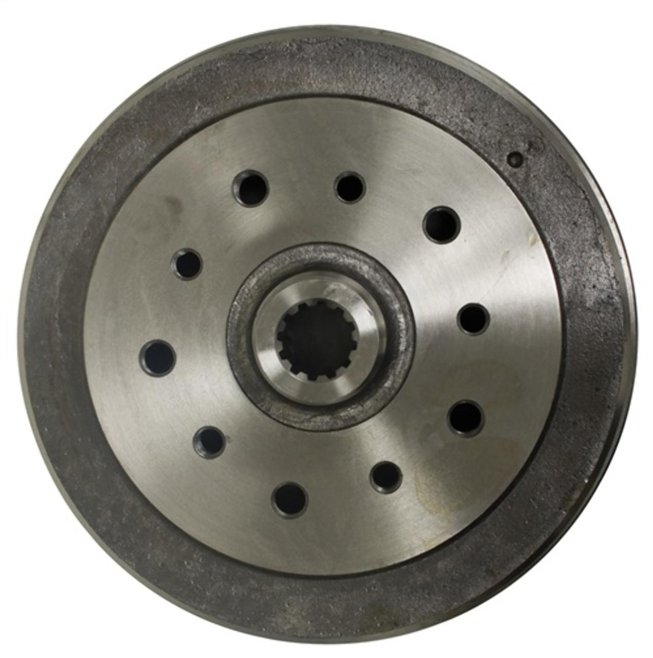 98-5002-7 Rear Brake Drum, Dual Drilled, Porsche & Chevy PCD To T-1 68-79, Ghia 68-74, Each