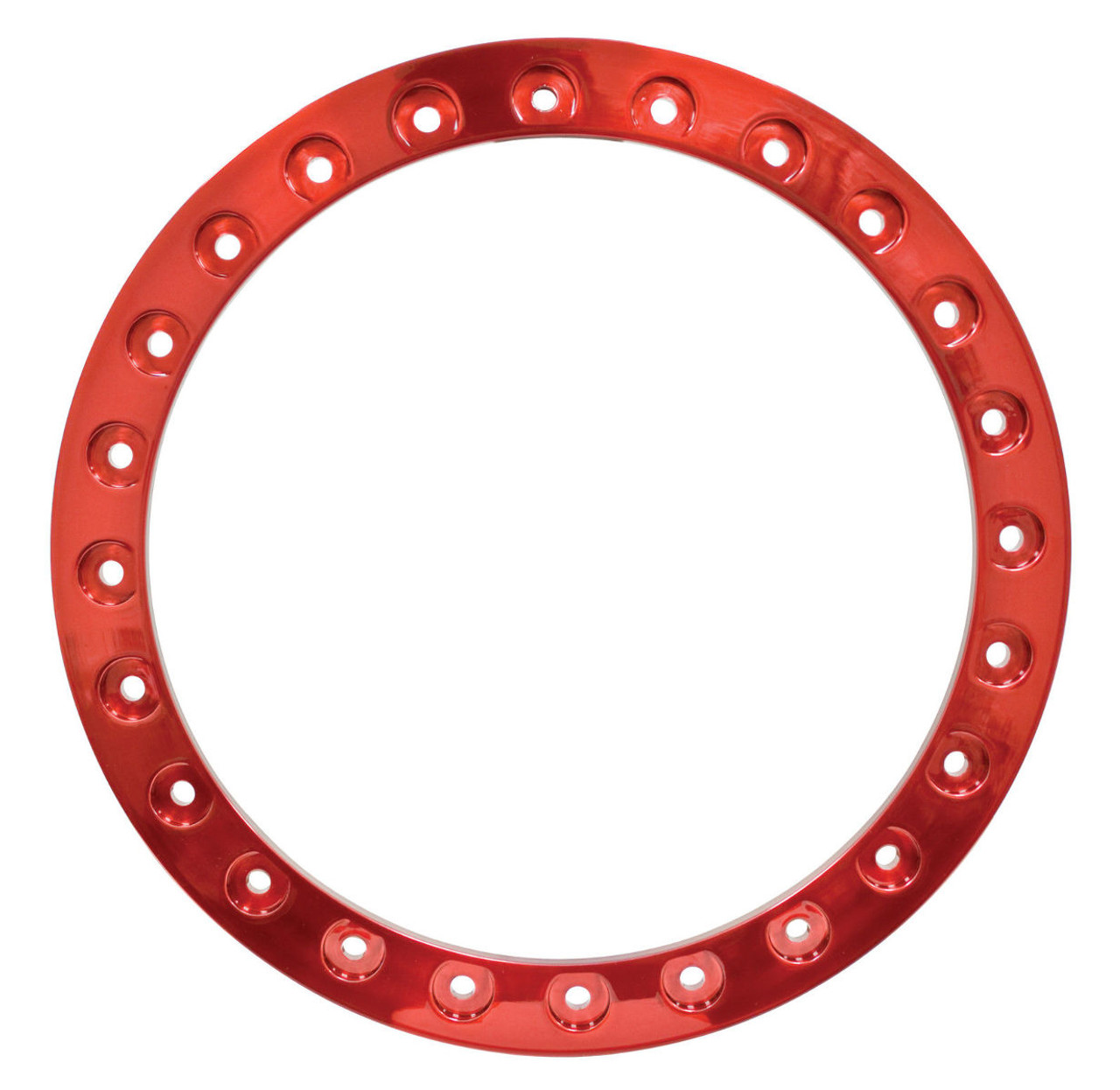 """EMPI  Race Trim Bead Lock Wheel Ring 15"""" POWDER COATED CANDY RED,EA, 9774"""