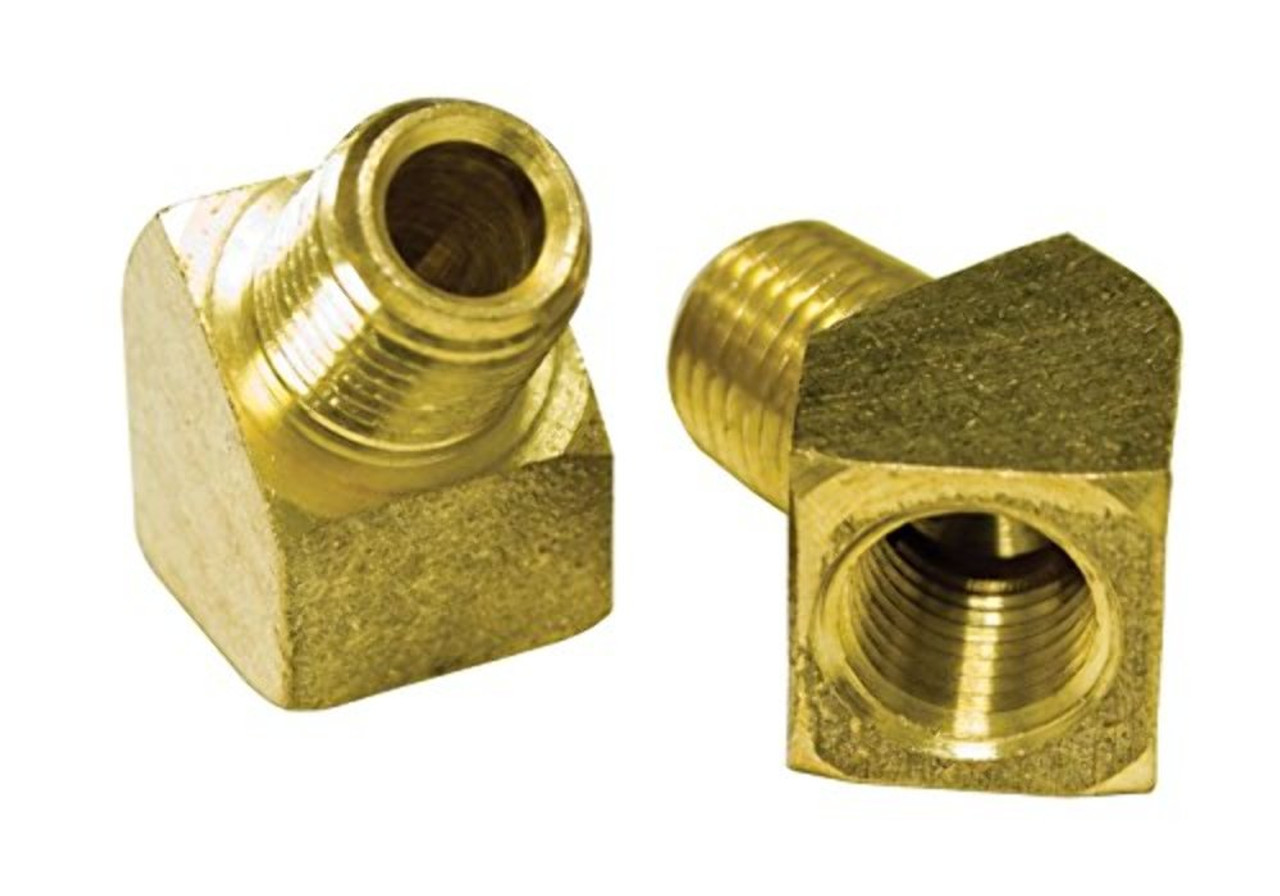 """Empi 00-9246-0 45° 1/4"""" Male X 1/4"""" Female, Pack of 2"""