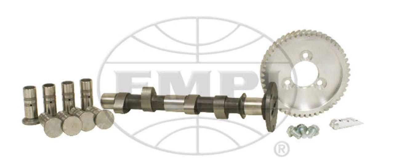 """EMPI VW BUG PERFORMANCE CAM 125 KIT,.430"""" LIFT WITH 21-4300 LIFTERS AND GEAR"""