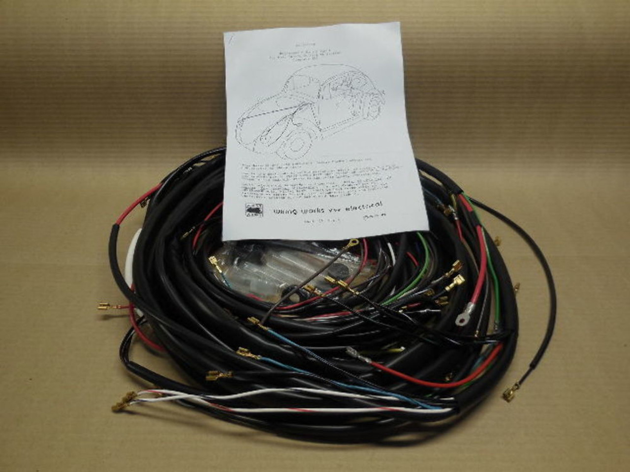 1966 VW Volkswagen Bug Sedan Complete Wiring works Harness wire kit Wire Harness Vw Bug on bus wire harness, hot rod wire harness, vw golf wire harness, car wire harness, motorcycle wire harness, ford wire harness, honda wire harness, vw dune buggy wire harness, corvette wire harness,