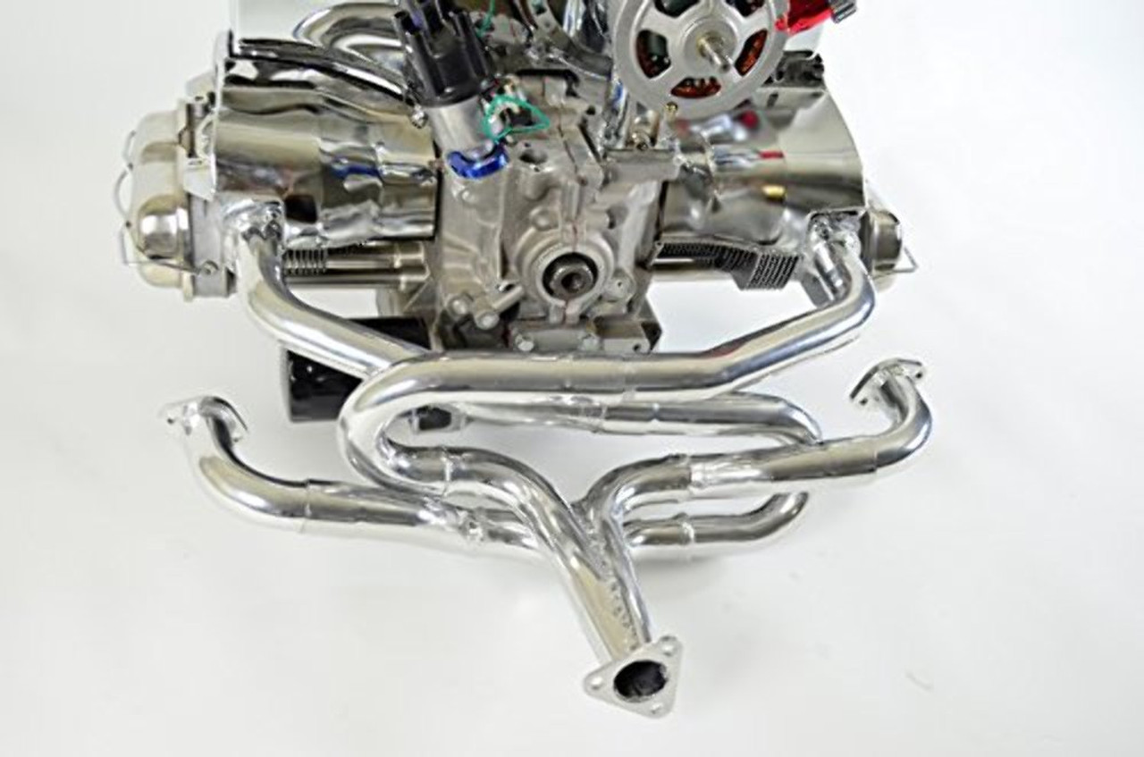 """EMPI 55-7320 Competition Merged Header Only w/ Stinger - Ceramic Coated - For Bolt on Heater Boxes 1 5/8"""""""