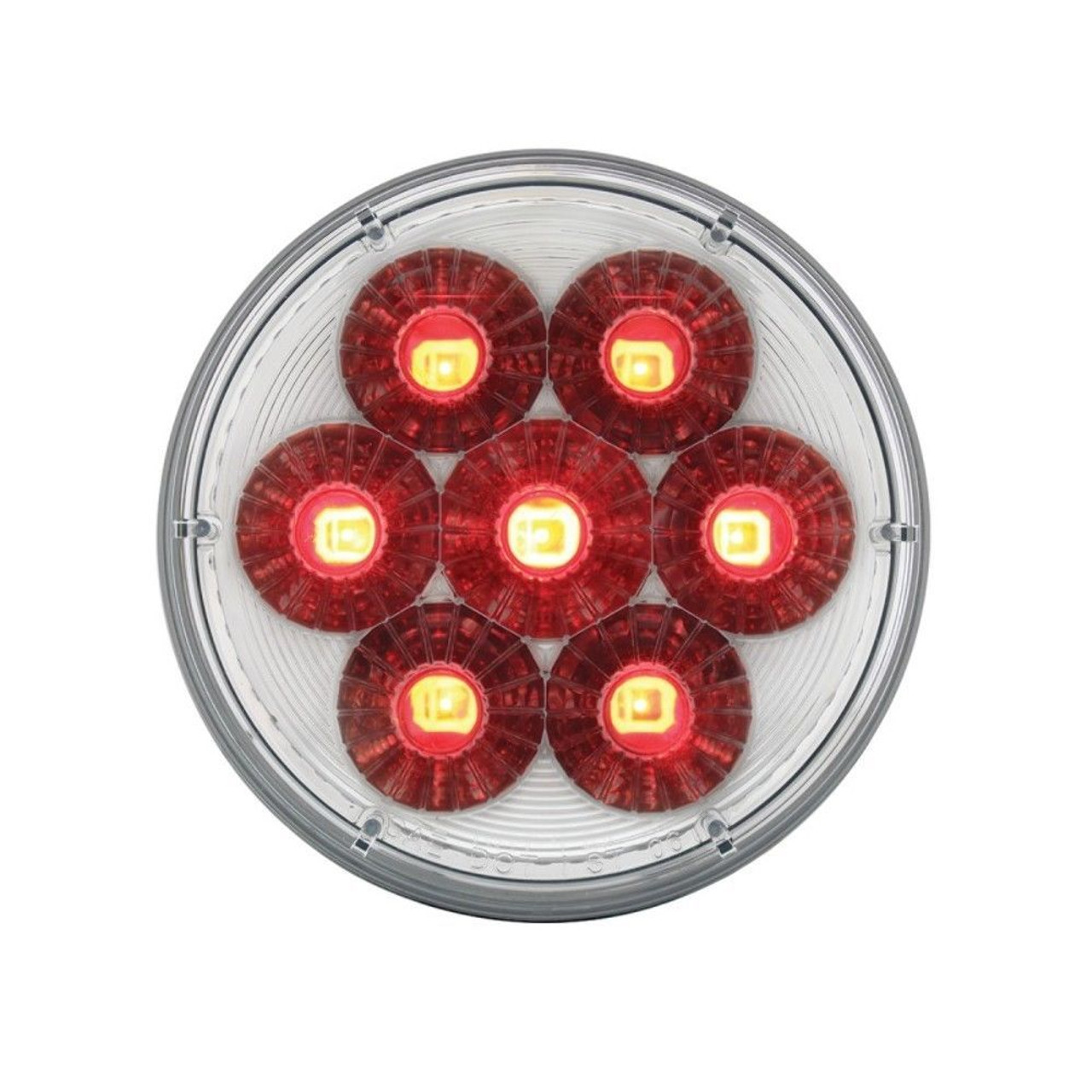"14 Led S/T/T & P/T/C Dual Color 4"" ""Double Fury"" Led Light - Red/Blue"