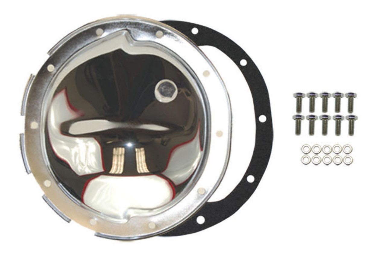 Chrome Steel Chevy GM 10 Bolt Differential Cover For 8.5 Inch Ring Gear