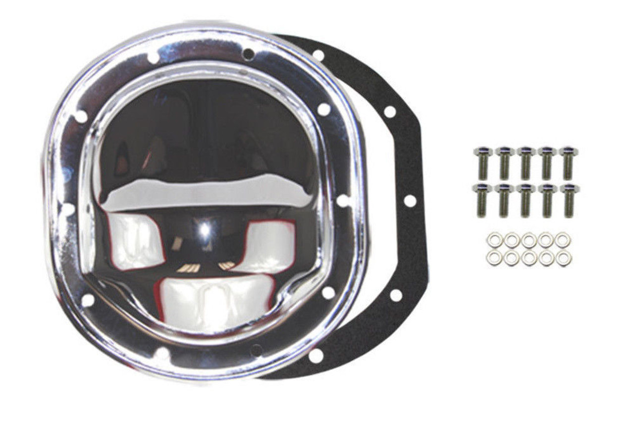 """Chrome Ford 8.8/"""" RG Differential Cover F150 Mustang Explorer 302 351W V8 83-03"""