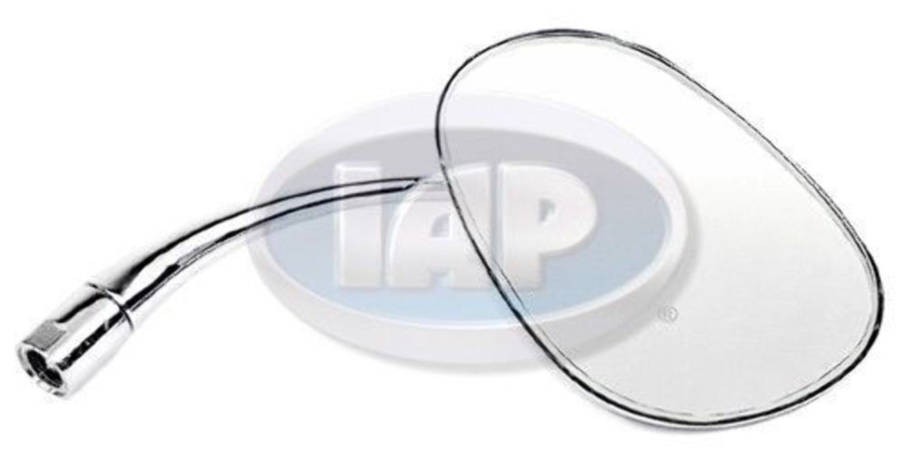 1953-1967 VW BUG BEETLE NEW CHROME STOCK REPLACEMENT MIRROR OVAL RIGHT