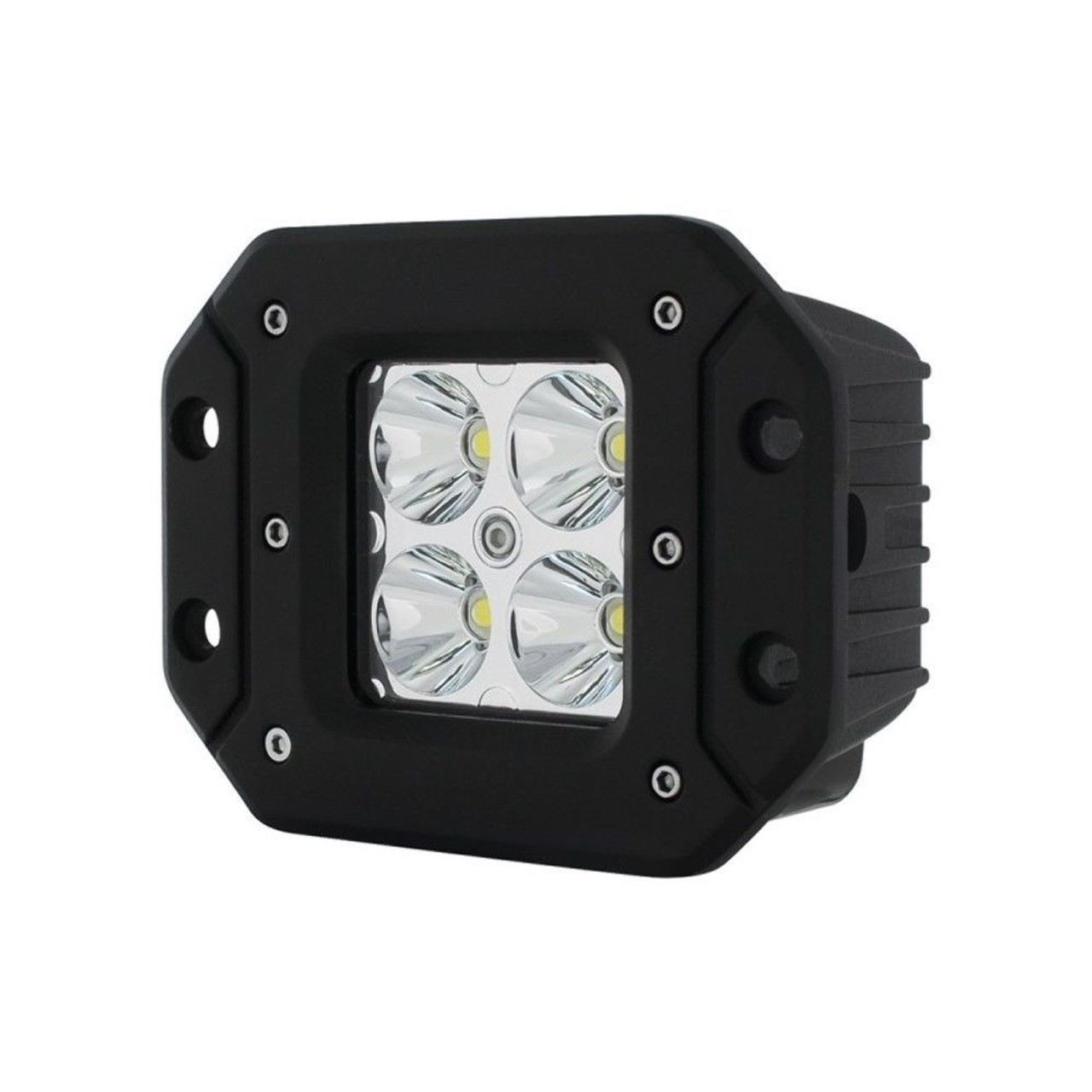"4 High Power LED ""X2"" Spot Light - Flush Mount, 1400 Lumens LED, IP68, Each"