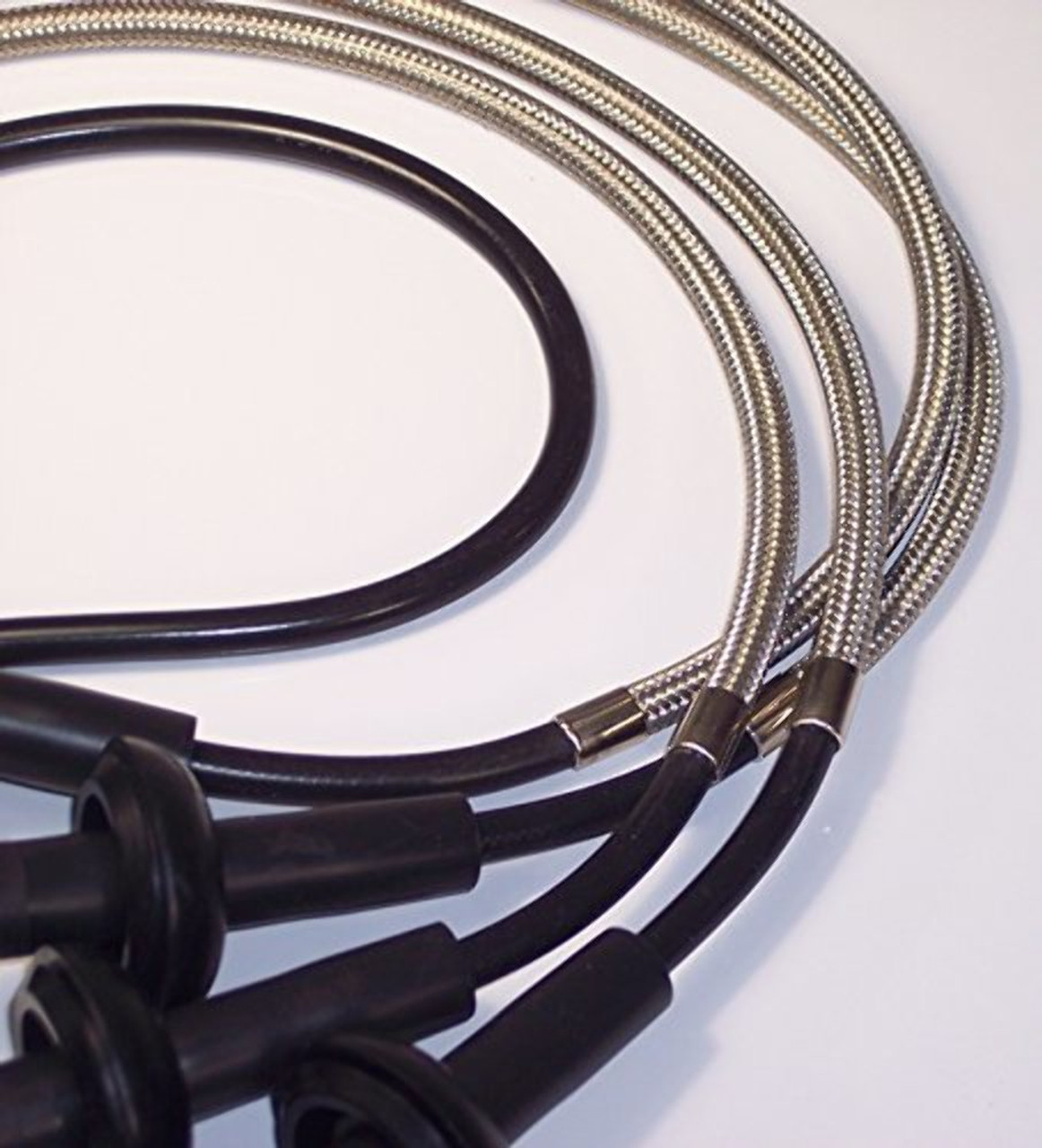 8mm Braided SST Shielded Silicone Wires Tin Copper Jaket, VW Dune Buggy Baja Bug