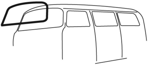 Windshield Seal w/ Molding Groove VW Type 2 Bus, 1968-79 - EMPI 98-8614  211-845-121D