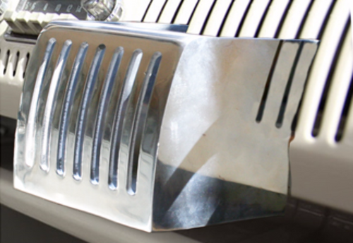Polished Aluminum Cup Holder, VW Type 2 Transporter Bus 1954-1967
