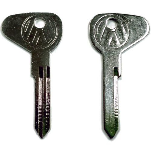 """(2) Key Blanks, Profile """"R"""", Classic Air-Cooled VW Bus 1971 - 1979"""