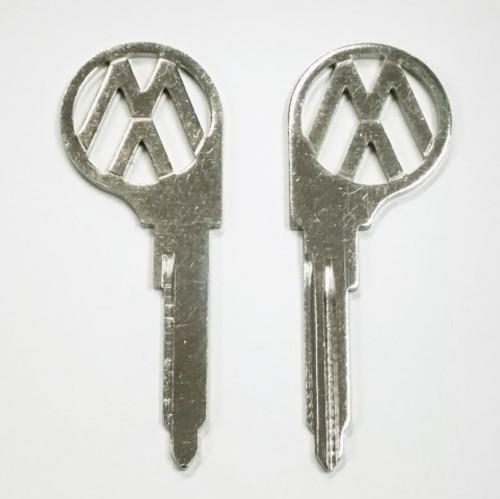 """(2) Key Blanks, Profile """"L"""", Classic Air-Cooled VW Bus 1967 - 1970"""