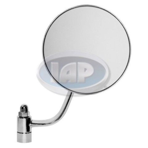 Chrome Stock Replacement Mirror, Round, Right For 1953-1967 Type-1