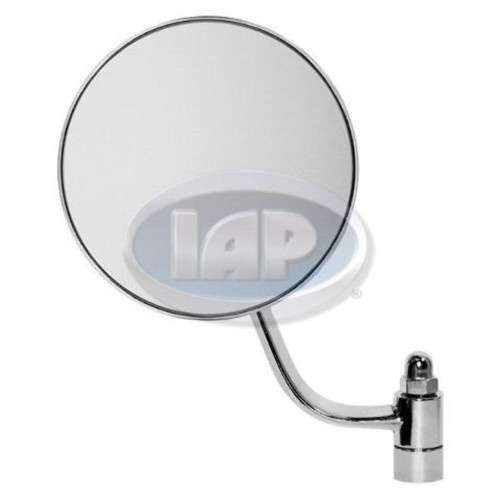 1953-1967 VW BUG BEETLE NEW CHROME STOCK REPLACEMENT MIRROR ROUND LEFT