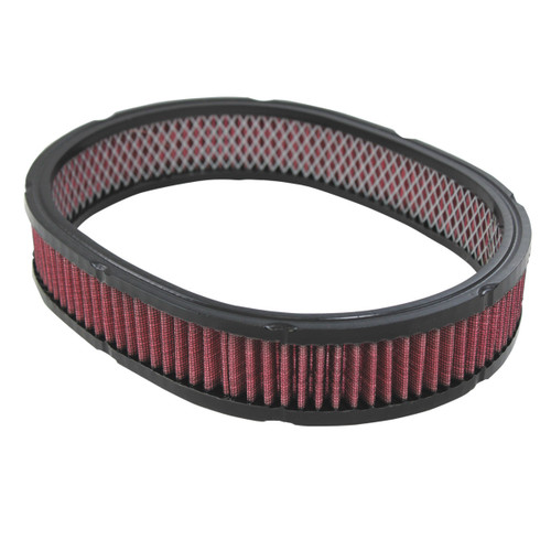 """12"""" x  2"""" Oval, Washable/Reusable High Flow Air Filter Element Chevy Ford Mopar V8"""