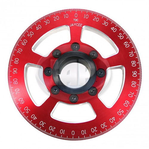 "6"" Street Power Crankshaft Power Pulley 6"", Red For Air-Cooled VW"