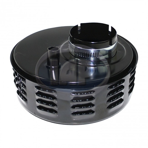 IAP Black Air Cleaner With Louvers For Stock VW Carburetor 5-3/8 Inch Diameter