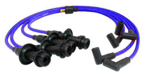 Ignition Wires, 90 Degree Suppressed, Blue, Compatible with VW Type 1-2-3 Engines