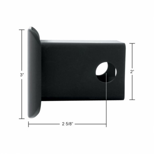 "Black Plastic Hitch Cover For 2"" X 2"" Trailer Hitch Receivers"