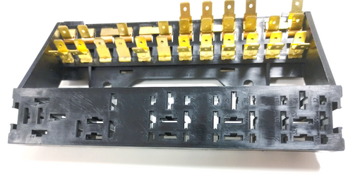 12 Fuse Box w/ Relay, Compatible with Volkswagen Type-1 STD 73-78, Ghia 73-74