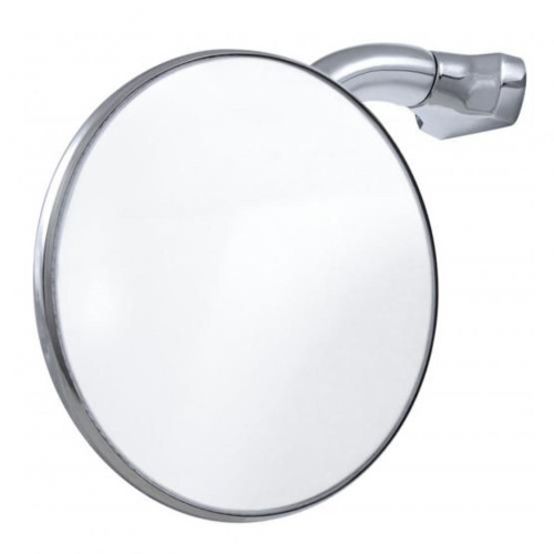 "4"" Curved Arm Peep Mirror With Convex Mirror Glass"