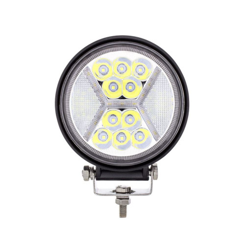 """4.5"""" 24 High Power LED Work Light With """"X"""" White Light Guide, 5200 Lumens, IP67"""