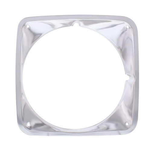 Anodized Aluminum Headlight Bezel Compatible With Chevrolet 1969-72 Truck - R/H