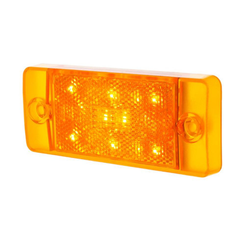 Front LED Side Marker, Amber, Compatible with Ford Bronco 1970-77