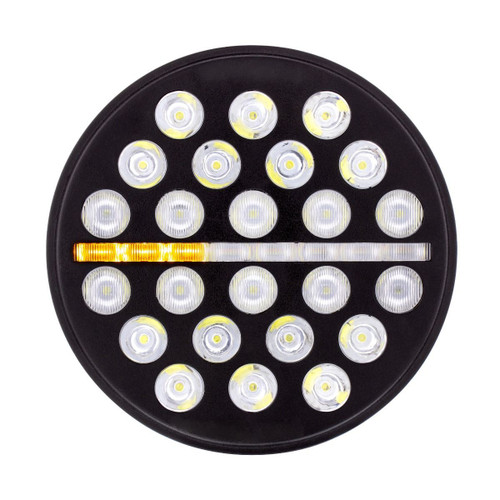 """24 High Power LED 7"""" Light w/Dual Color Position Light - Off-Road"""