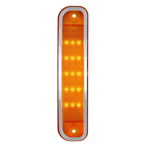 15 LED Amber Side Marker Light W/ Stainless Steel Trim, 1973-80 Chevrolet Truck