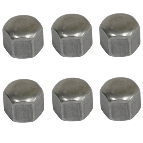 Acorn Cap Nut Kit, Oil Drain/Sump Plate, 6mm, Set of 6, Compatible with VW Bug, Bus, S/B, Ghia