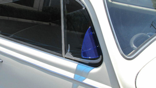 Polished Stainless Steel Vent Wing Window Air Deflector Breeze Breezies Pair