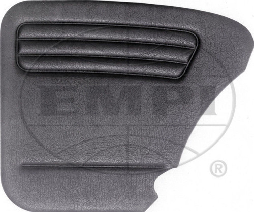 EMPI VW AIR COOLED  BUG 1958-64  Black 4-piece door panel kit with pockets, 4852