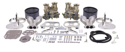 EMPI VW  DUAL 40 HPMX TYPE 1 CARB. KITS WITH CHrROME AIR CLEANERS 47-7317