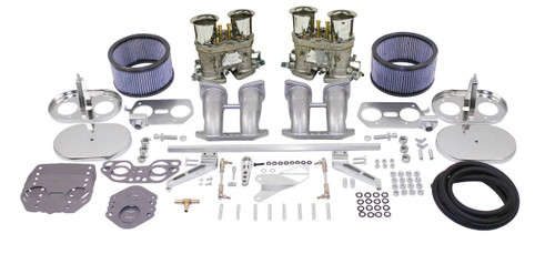 EMPI DUAL 40 HPMX TYPE 2BUS & TYPE 4 CARB. KITS WITH CHROME AIR CLEANERS 47-7347