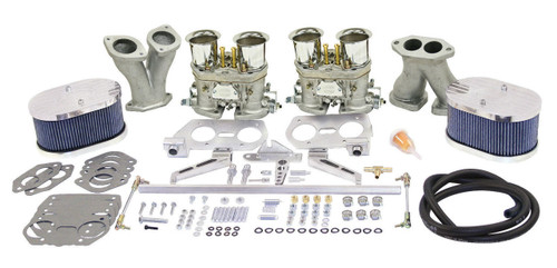 EMPI VW  DELUXE DUAL 40 HPMX TYPE 1 CARB. KITS WITH BILLET AIR CLEANERS 47-9317