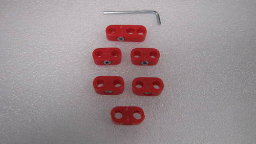 EMPI  VW BUG BUGGY BUS GHIA SAND RAIL BAJA TYPE 3  WIRE SEPARATORS, RED   8748