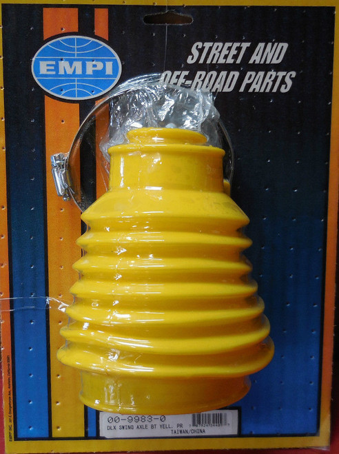 9983 Deluxe Rear Swing Axle Boots, Yellow, Pair, VW Bug,Baja Sand Rail Buggy
