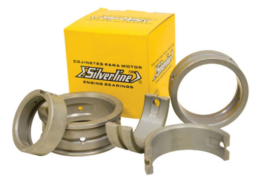 Main Bearing Set 1.00mm/STD/1.00mm, Silverline, Fits Air Cooled VW 1200-1600, EMPI 98-1810-S