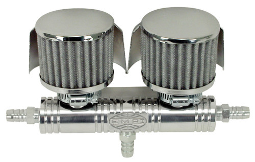 Breather Tube w/Shielded Covers, Billet, Fits VW Bug, Buggy Sand Rail, EMPI 16-5153