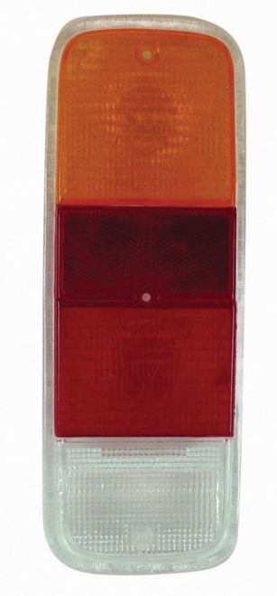 Tail Light Lens, Red/Amber, Fits VW Bus Type 2 72-79,  Left Or Right, EMPI 98-9454
