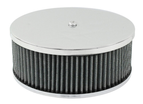 """EMPI VW Bug 6-3/8"""" Round Air Cleaner Stock Carb, 3-1/2 """" Tall Gauze Element 8970"""