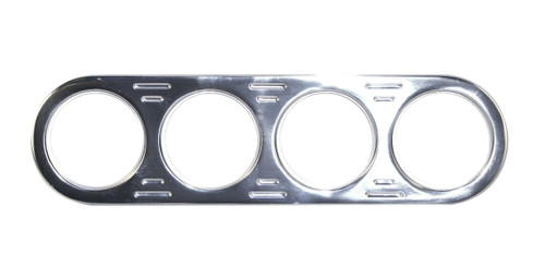 Billet Aluminum CHROME 4 Gauge Street Rod  Hot Rod Universal Gauge Panel 16-9835