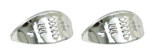 Chrome Headlight Eyebrows Louvered Pair, Fits VW Air Cooled Bug, EMPI 6451