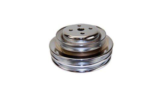 1964-73 SB Ford 289 Chrome Steel Triple Groove Water Pump Pulley